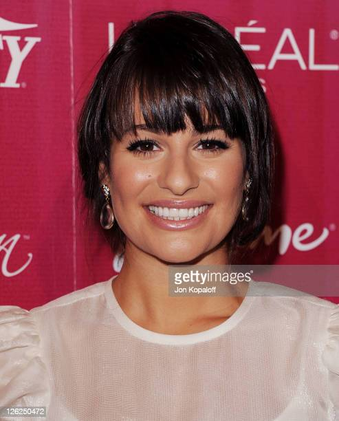 Actress Lea Michele arrives at Variety's 3rd Annual Power Of Women Luncheon at the Beverly Wilshire Four Seasons Hotel on September 23, 2011 in...