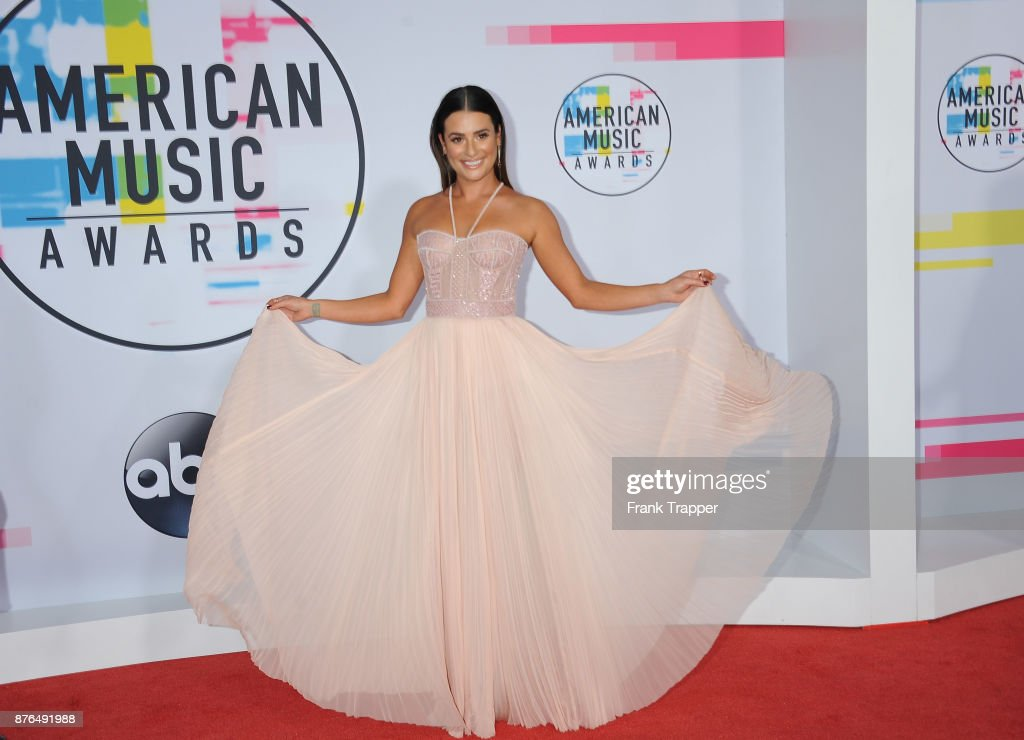 Actress Lea Michele attends 2017 American Music Awards at Microsoft Theater on November 19, 2017 in Los Angeles, California.
