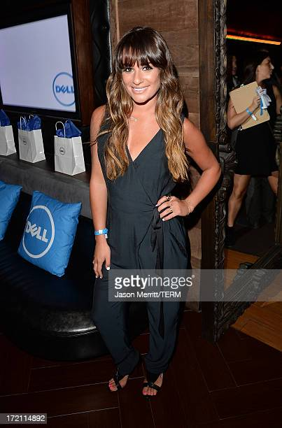 Actress Lea Michele attends a private event at Hyde Lounge hosted by Dell for the Beyonce concert at The Staples Center on July 1 2013 in Los Angeles...