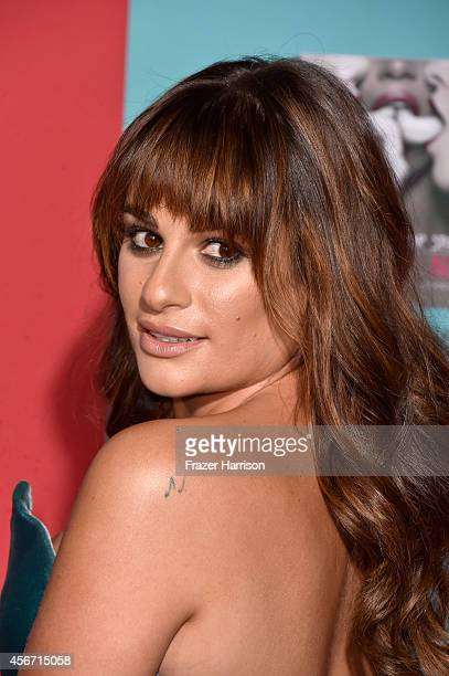 Actress Lea Michele attends FX's American Horror Story Freak Show premiere screening at TCL Chinese Theatre on October 5 2014 in Hollywood California