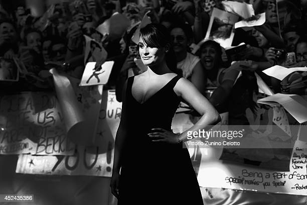 Actress Lea Michele attends Giffoni Film Festival blue carpet on July 20 2014 in Giffoni Valle Piana Italy