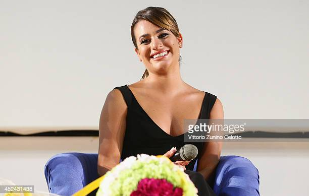 Actress Lea Michele attends Giffoni Film Festival meeting with the jurors on July 20 2014 in Giffoni Valle Piana Italy