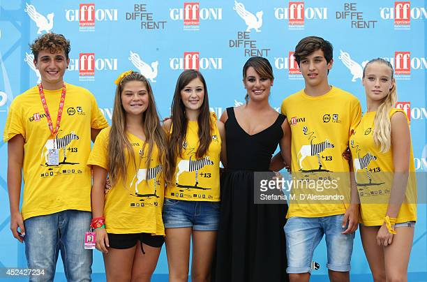 Actress Lea Michele attends Giffoni Film Festival photocall on July 20 2014 in Giffoni Valle Piana Italy