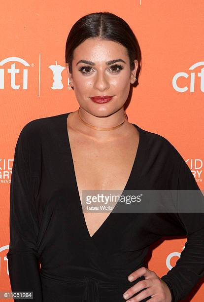 Actress Lea Michele attends Los Angeles' No Kid Hungry Dinner on September 28 2016 in Los Angeles California