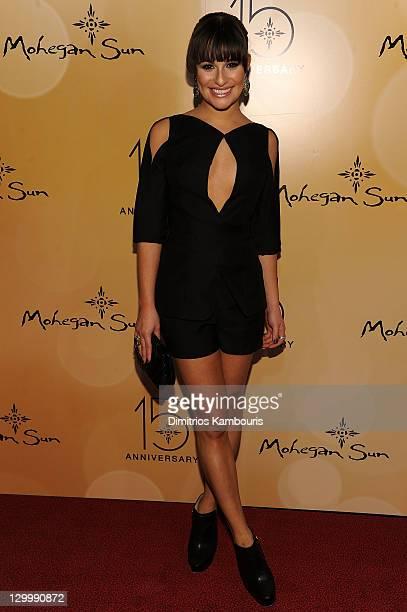 Actress Lea Michele attends Mohegan Sun's 15th Anniversary Celebration at Mohegan Sun on October 22, 2011 in Uncasville, Connecticut.