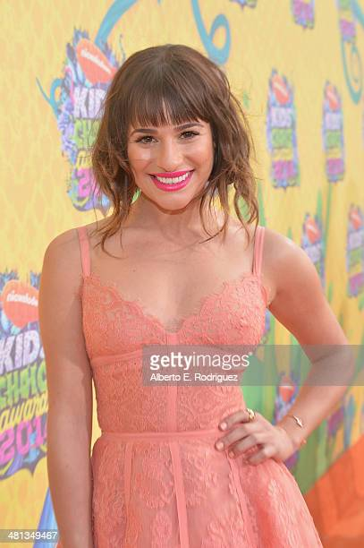 Actress Lea Michele attends Nickelodeon's 27th Annual Kids' Choice Awards held at USC Galen Center on March 29 2014 in Los Angeles California