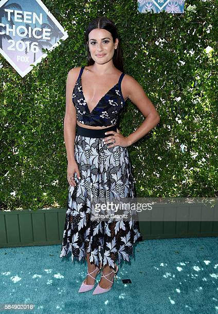 Actress Lea Michele attends Teen Choice Awards 2016 at The Forum on July 31, 2016 in Inglewood, California.