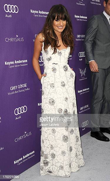 Actress Lea Michele attends the 12th annual Chrysalis Butterfly Ball on June 8 2013 in Los Angeles California
