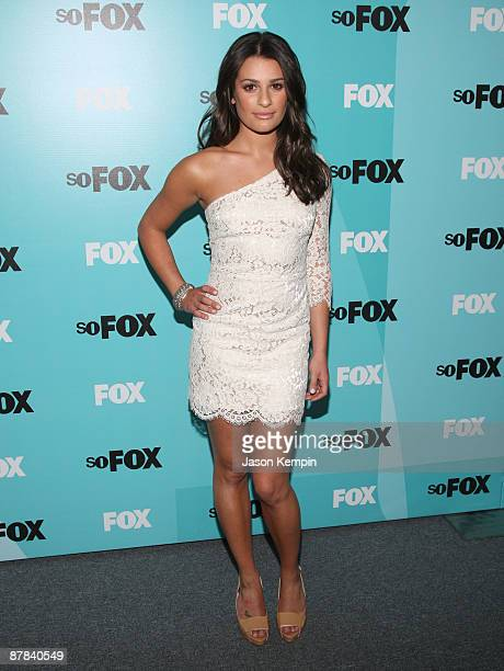 Actress Lea Michele attends the 2009 FOX UpFront after party at the Wollman Rink in Central Park on May 18 2009 in New York City