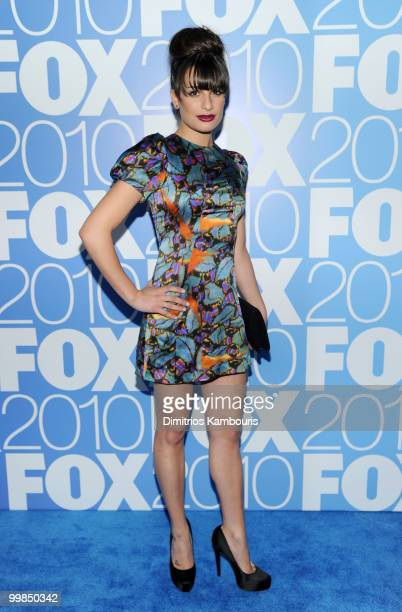 Actress Lea Michele attends the 2010 FOX Upfront after party at Wollman Rink Central Park on May 17 2010 in New York City