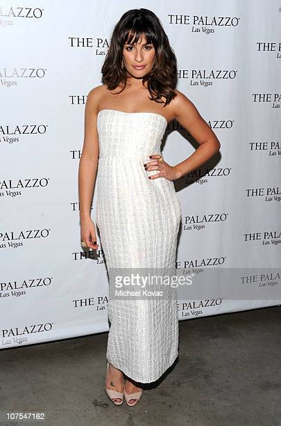 Actress Lea Michele attends the 2010 Hollywood Style Awards which is transformed into The Palazzo Las Vegas at the Hammer Museum on December 12 2010...