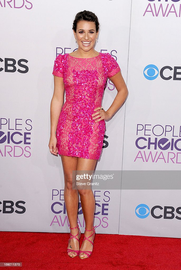Actress Lea Michele attends the 2013 People's Choice Awards at Nokia Theatre L.A. Live on January 9, 2013 in Los Angeles, California.