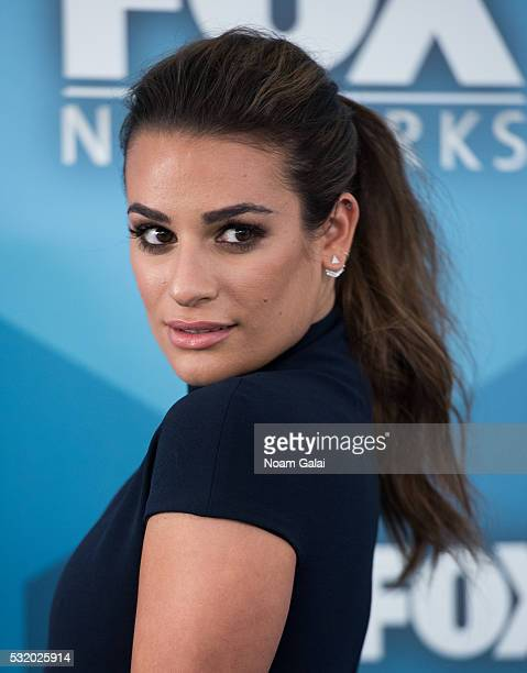 Actress Lea Michele attends the 2016 Fox Upfront at Wollman Rink Central Park on May 16 2016 in New York City