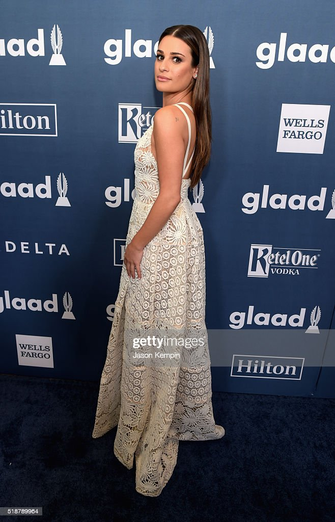 Actress Lea Michele attends the 27th Annual GLAAD Media Awards at the Beverly Hilton Hotel on April 2, 2016 in Beverly Hills, California.