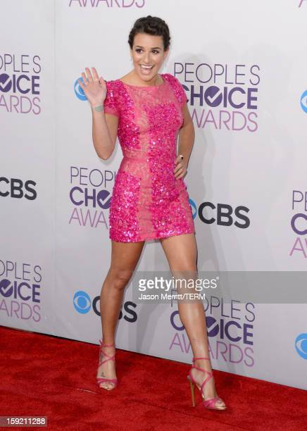 Actress Lea Michele attends the 39th Annual People's Choice Awards at Nokia Theatre LA Live on January 9 2013 in Los Angeles California