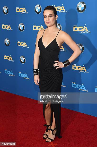 Actress Lea Michele attends the 67th Annual Directors Guild Of America Awards at the Hyatt Regency Century Plaza on February 7 2015 in Century City...