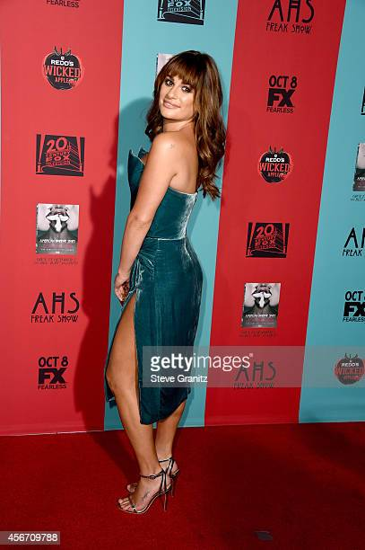 Actress Lea Michele attends the American Horror Story Freak Show Los Angeles premiere at TCL Chinese Theatre IMAX on October 5 2014 in Hollywood...