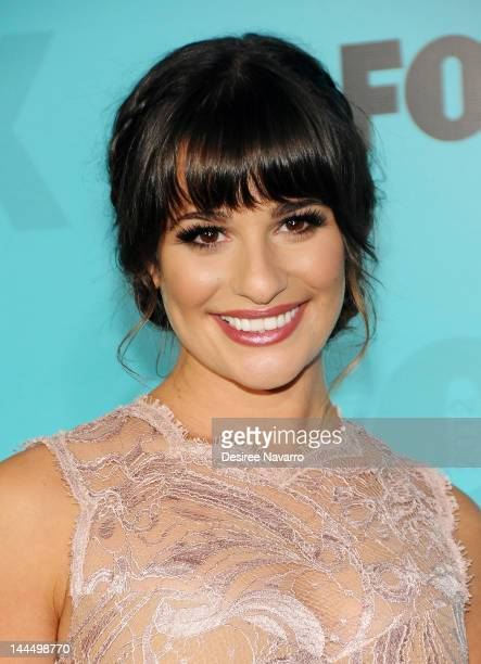 Actress Lea Michele attends the Fox 2012 Programming Presentation PostShow Party at Wollman Rink Central Park on May 14 2012 in New York City