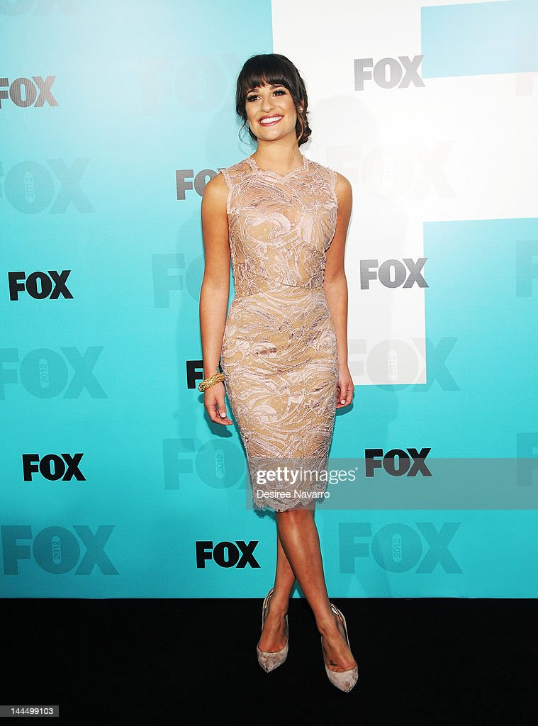 Actress Lea Michele attends the Fox 2012 Programming Presentation Post-Show Party at Wollman Rink - Central Park on May 14, 2012 in New York City.