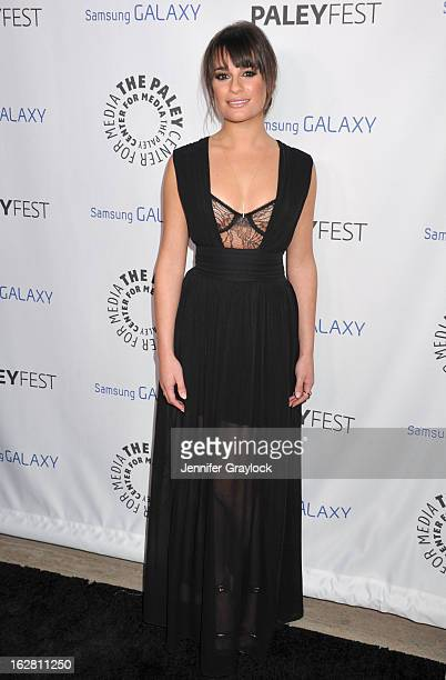 Actress Lea Michele attends the PaleyFest Icon Award 2013 held at The Paley Center for Media on February 27 2013 in Beverly Hills California