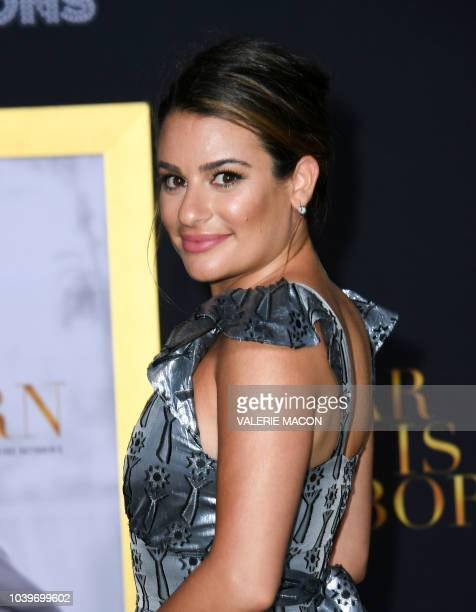 Actress Lea Michele attends the premiere of A star is born at the Shrine Auditorium in Los Angeles California on September 24 2018