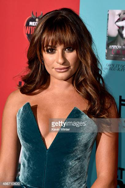 Actress Lea Michele attends the premiere screening of FX's American Horror Story Freak Show at TCL Chinese Theatre on October 5 2014 in Hollywood...