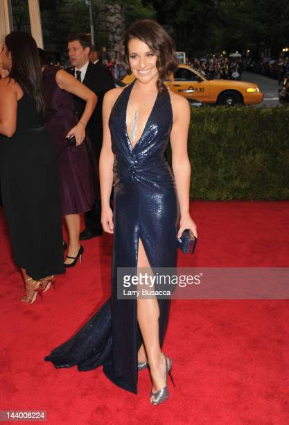 "Actress Lea Michele attends the ""Schiaparelli And Prada: Impossible Conversations"" Costume Institute Gala at the Metropolitan Museum of Art on May 7,..."