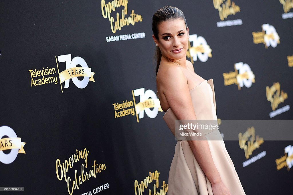 Actress Lea Michele attends the Television Academy's 70th Anniversary Gala on June 2, 2016 in Los Angeles, California.
