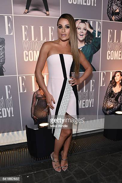 Actress Lea Michele attends the Women In Comedy event with July cover stars Leslie Jones, Melissa McCarthy, Kate McKinnon and Kristen Wiig hosted by...