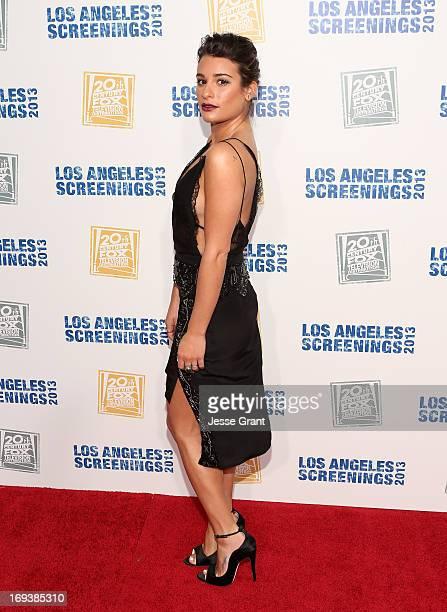 Actress Lea Michele attends Twentieth Century Fox Television Distribution's 2013 LA Screenings Lot Party at Twentieth Century Fox Studio Lot on May...
