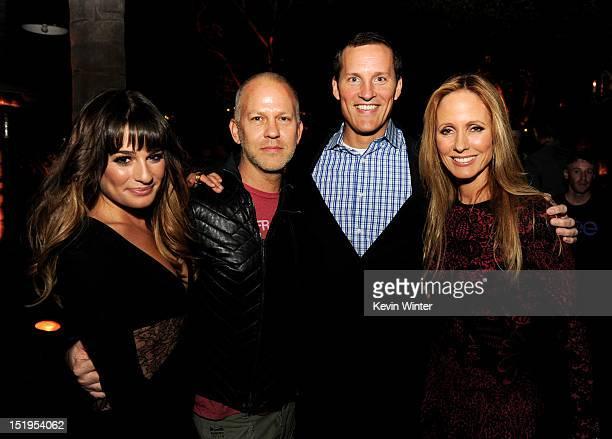 Actress Lea Michele, executive producer/creator Ryan Murphy, Joe Earley, COO, Fox Broadcasting and Dana Walden, Chairman, 20th Century Fox Television...