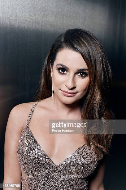 Actress Lea Michele poses for a portrait at the amfAR LA Inspiration Gala on October 29 2014 in Los Angeles California