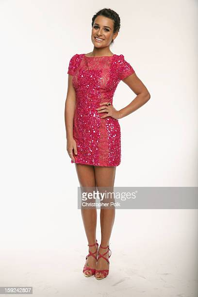 Actress Lea Michele poses for a portrait during the 39th Annual People's Choice Awards at Nokia Theatre LA Live on January 9 2013 in Los Angeles...