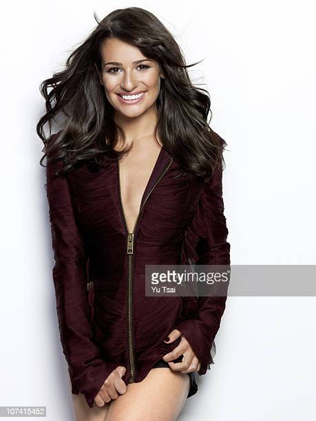 Actress Lea Michele poses for a portrait session in Los Angeles for Marie Claire UK