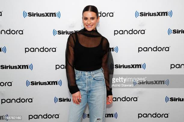 Actress Lea Michele visits the SiriusXM Studios on December 13, 2019 in New York City.