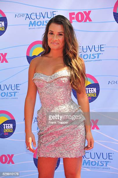 Actress Lea MIchelle arrives at the 2012 Teen Choice Awards held at the Gibson Amphitheatre in Universal City California