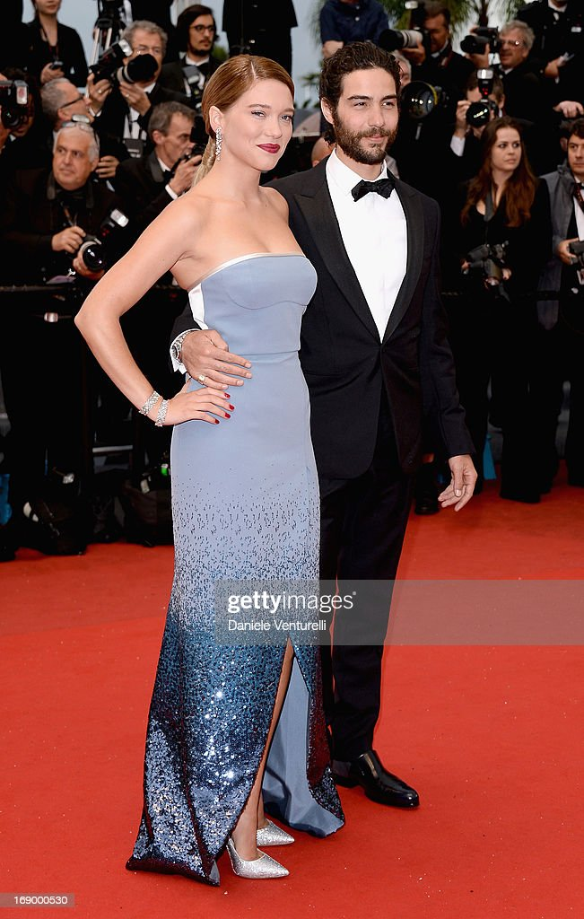 Actress Lea Seydoux and actor Tahar Rahim attend the Premiere of 'Grand Central' at Palais des Festivals during The 66th Annual Cannes Film Festival on May 18, 2013 in Cannes, France.