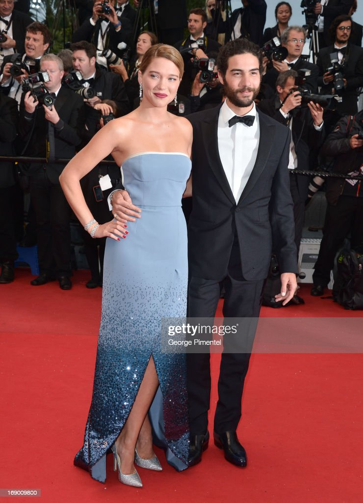 Actress Lea Seydoux and actor Tahar Rahim attend the Premiere of 'Grand Central' at The 66th Annual Cannes Film Festival on May 18, 2013 in Cannes, France.