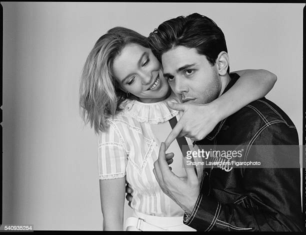 Actress Lea Seydoux and actor Xavier Dolan are photographed for Madame Figaro on April 8 2016 in Paris France All PUBLISHED IMAGE CREDIT MUST READ...
