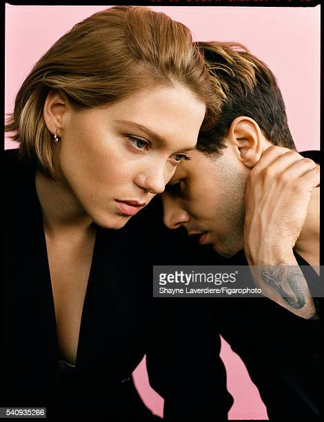 Actress Lea Seydoux and actor Xavier Dolan are photographed for Madame Figaro on April 8 2016 in Paris France All CREDIT MUST READ Shayne...