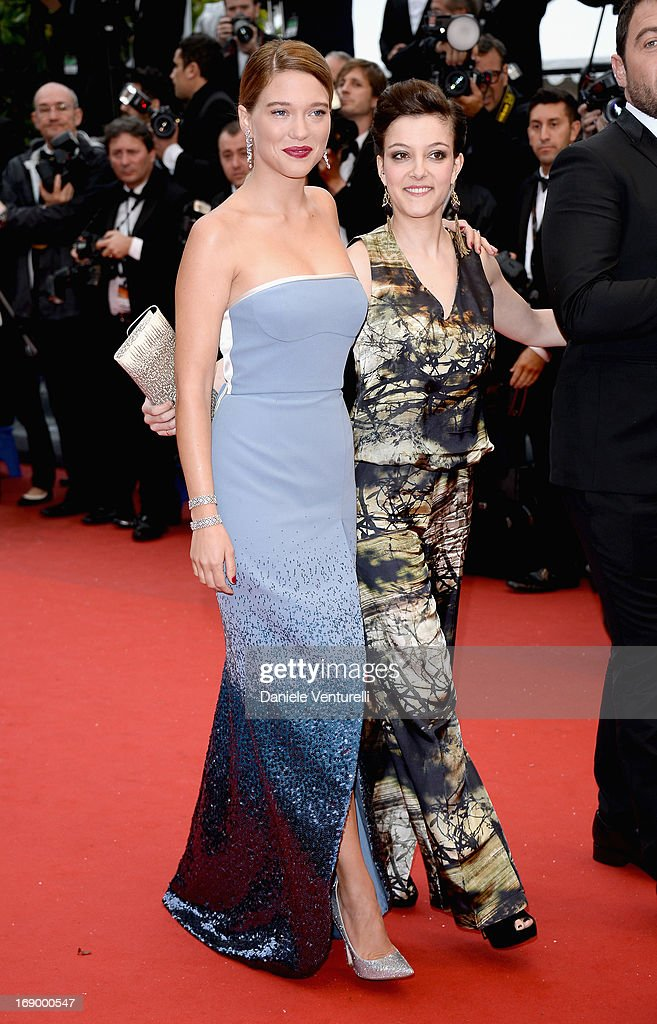 Actress Lea Seydoux and Camille Lellouche attend the Premiere of 'Grand Central' at Palais des Festivals during The 66th Annual Cannes Film Festival on May 18, 2013 in Cannes, France.