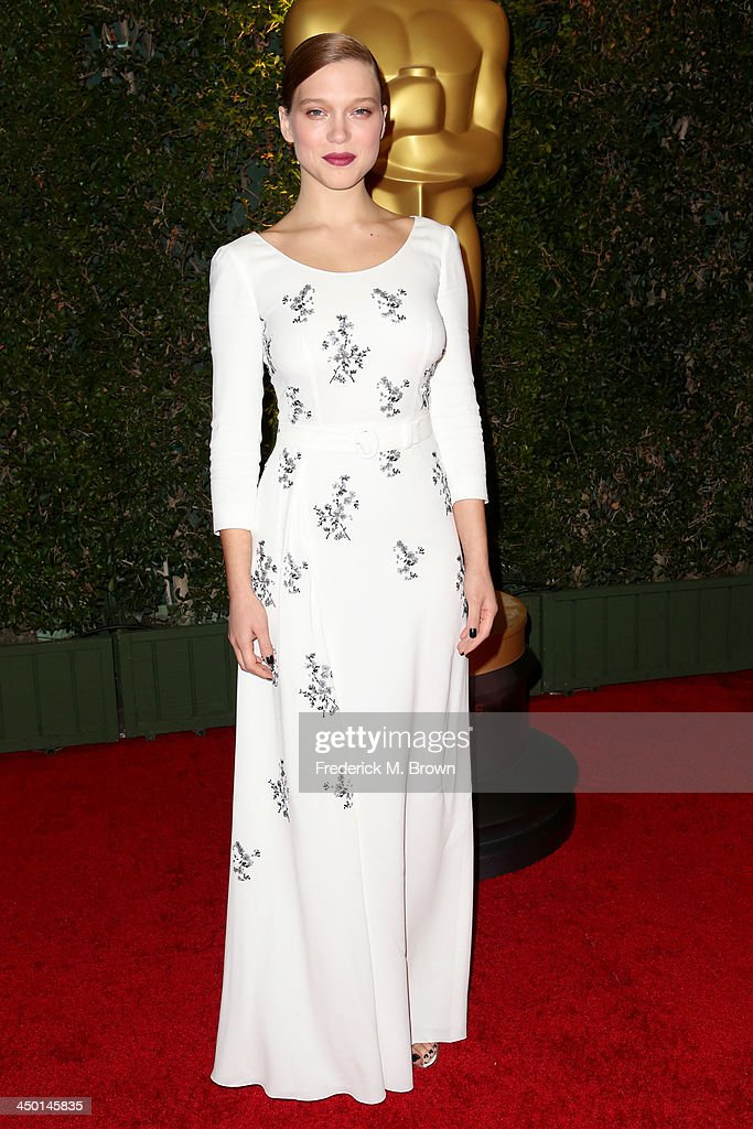 Actress Lea Seydoux arrives at the Academy of Motion Picture Arts and Sciences' Governors Awards at The Ray Dolby Ballroom at Hollywood & Highland Center on November 16, 2013 in Hollywood, California.