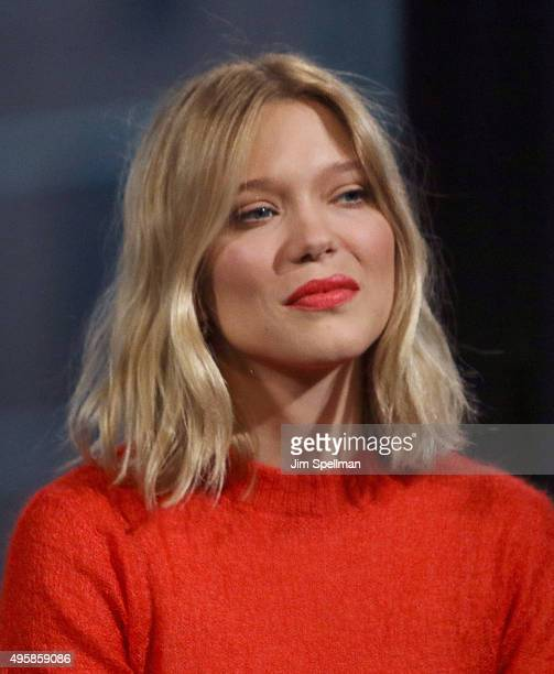 Actress Lea Seydoux attends AOL BUILD Series Presents 'Spectre' at AOL Studios In New York on November 5 2015 in New York City
