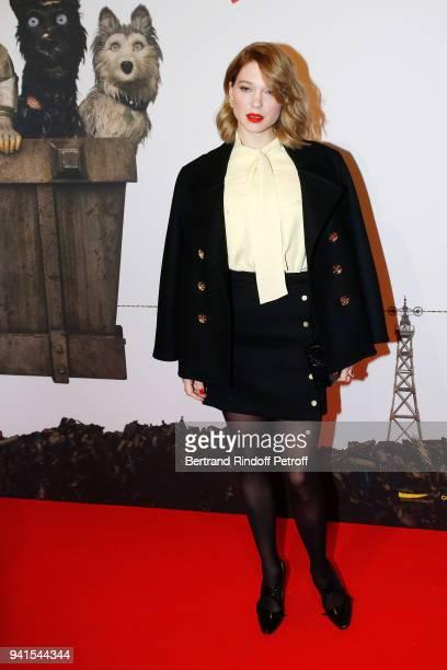 Actress Lea Seydoux attends 'Isle Of Dogs L'Ile aux Chiens' Paris Premiere at Cinema Gaumont Capucine on April 3 2018 in Paris France