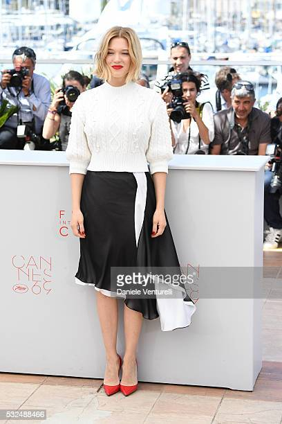 Actress Lea Seydoux attends 'It's Only The End Of The World ' during the Photocall - The 69th Annual Cannes Film Festival on May 19, 2016 in Cannes, .