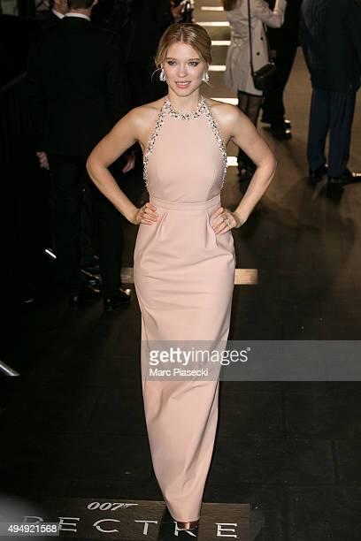 Actress Lea Seydoux attends the '007 Spectre' Paris Premiere at Le Grand Rex on October 29, 2015 in Paris, France.