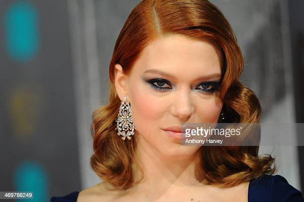 Actress Lea Seydoux attends the EE British Academy Film Awards 2014 at The Royal Opera House on February 16 2014 in London England