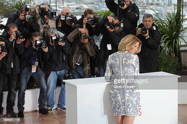 Actress Lea Seydoux attends the 'Grand Central' Photocall during The 66th Annual Cannes Film Festival at Palais des Festivals on May 18 2013 in...