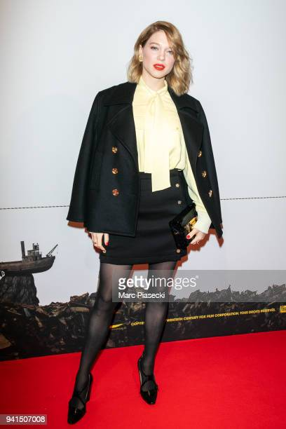 Actress Lea Seydoux attends the 'Isle of Dogs' premiere at Cinema Gaumont Capucine on April 3 2018 in Paris France