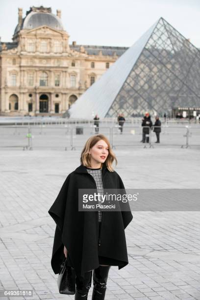 Actress Lea Seydoux attends the Louis Vuitton show as part of the Paris Fashion Week Womenswear Fall/Winter 2017/2018 on March 7 2017 in Paris France